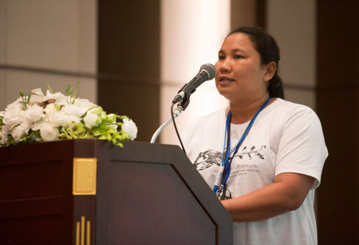 A speaker at the regional symposium on agroecology for Asia and the Pacific. Photo: FAO